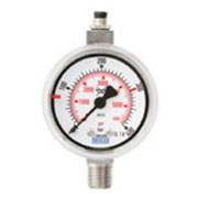 Reed contact pressure gauges